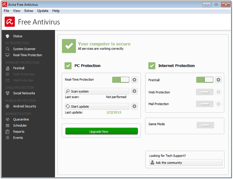 AVIRA free antyvirus 2016